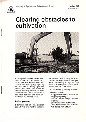 Clearing Obstacles to Cultivation | MAFF leaflet 799, published 1982