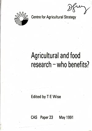 Agriculture and Food Research: Who Benefits?: Harvey, David R.; etc.