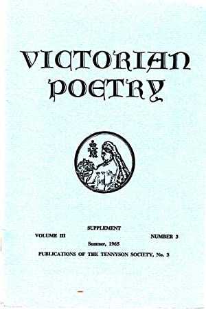 Victorian Poetry Vol 3, no 3, Summer 1965, Supplement | Some Unpublished Poems by Arthur Henry ...