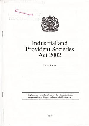 Industrial and Provident Societies Act 2002 (Public