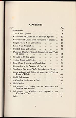 Textile Calculations Simplified.: Strong, John Henry