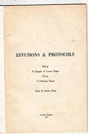 Effusions & Protocols | Being A Gaggle of Loose Pages from a Pakistan Diary: Page, Alex & Anita