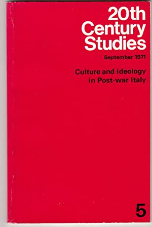 20th Century Studies no 5 September 1971: G Almansi (editor)
