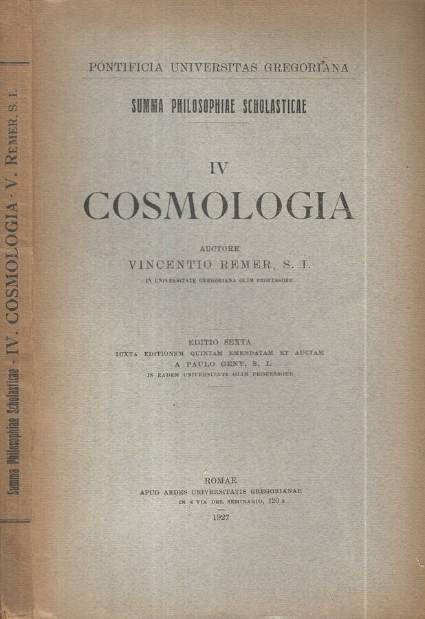 Cosmologia Vol IV