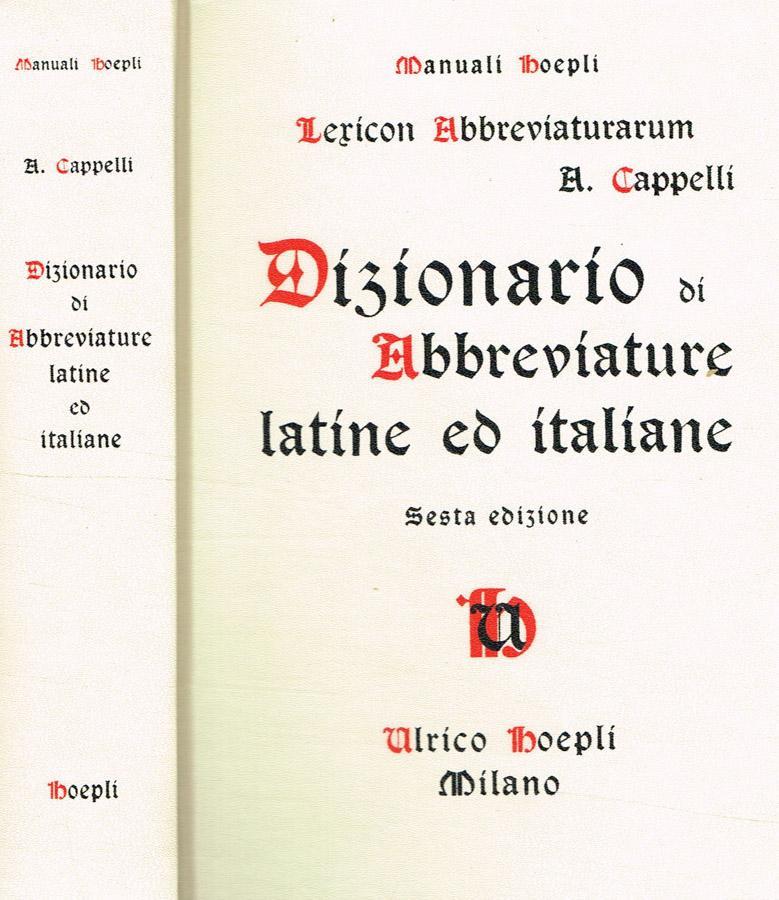 andare online consegna veloce presa all'ingrosso Lexicon abbreviaturarum. Dizionario di ...