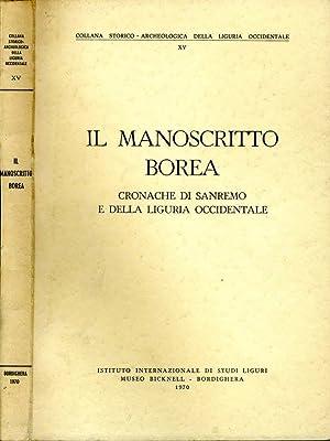 Il Manoscritto Borea CRONACHE DI SANREMO E: Aa.Vv.