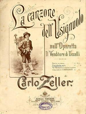La Canzone Dell'Usignolo Nell'Operetta Il Venditore: Carlo Zeller
