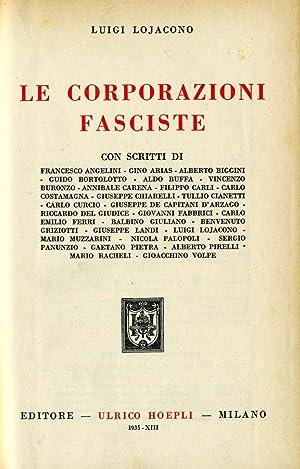 Le Corporazioni Fasciste: Luigi Lojacono