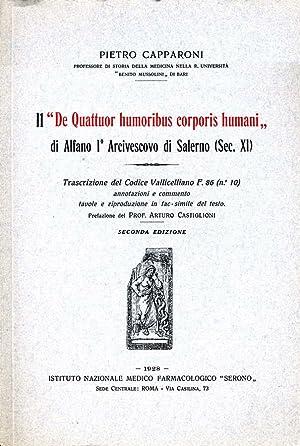 """Il """"De Quattuor Humoribus Corporis Humani"""" DI: Pietro Capparoni"""