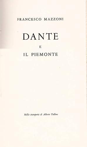Dante e il Piemonte: Francesco Mazzoni