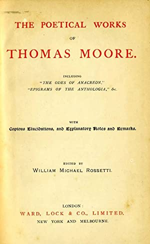 The Poetical Works Of Thomas Moore: William Michael Rossetti