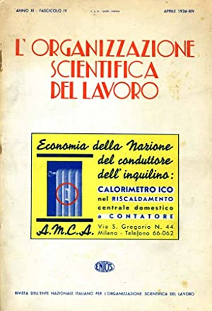 L'Organizzazione Scientifica Del Lavoro RIVISTA DELL'ENTE NAZIONALE: Antonio Todisco, A