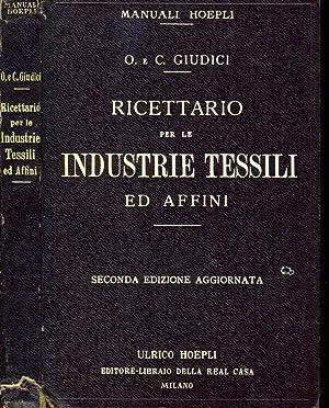 Ricettario Per Le Industrie Tessili Ad Affini: Oscarre Giudici -