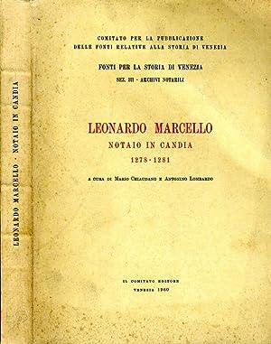 Leonardo Marcello NOTAIO IN CANDIA 1278 -: Mario Chiaudano E