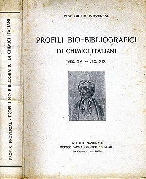 Profili Bio-Bibliografici Di Chimici Italiani Sec Xv-Secxix: Giulio Provenzal