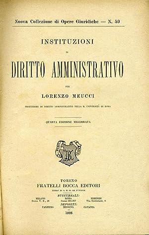 Diritto amministrativo: Lorenzo Meucci