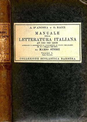 Manuale Della Letteratura Italiana AD USO DEI: A. D'Ancona, O.