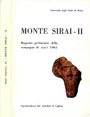 Monte Sirai -Ii RAPPORTO PRELIMINARE DELLA CAMPAGNA: Autori Vari