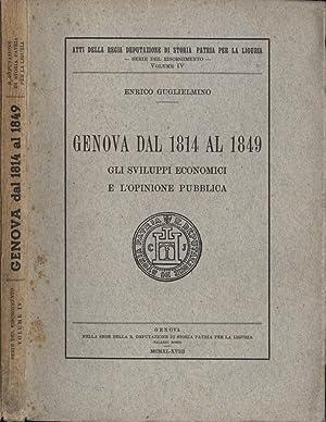 Genova dal 1814 al 1849 Gli sviluppi economici e l'opinione pubblica: Enrico Guglielmino