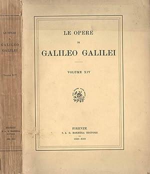 Le opere di Galileo Galilei (vol. XIV): Galileo Galilei