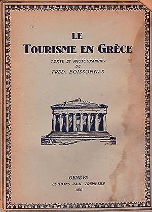 Le tourisme en Grèce: Fred. Boissonnas