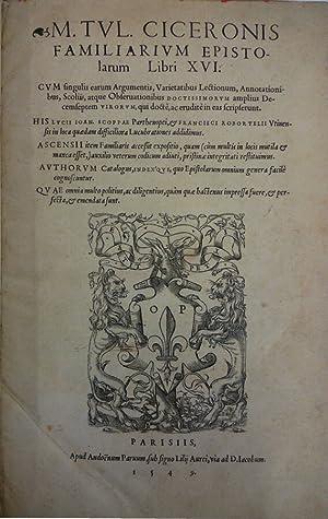 Familiarium Epistolarum Libri XVI: Marco Tullio Cicerone