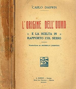 L'ORIGINE DELL'UOMO E LA SCELTA IN RAPPORTO: CARLO DARWIN