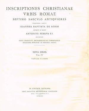 INSCRIPTIONES CHRISTIANAE URBIS ROMAE SEPTIMO SAECULO ANTIQUIORES: IOANNES BAPTISTA DE