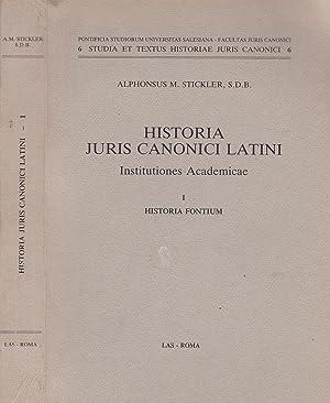 Historia Juris canonici latini. Institutiones Academicae I.: Alphonsus M. Stickler,