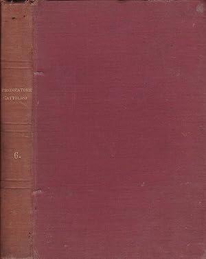 Il predicatore cattolico- Anno VI Serie I,: Sac. Prof. Sebastiano