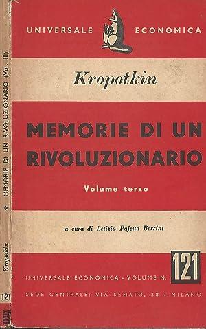 Memorie di un rivoluzionario vol. III: Kropotkin Pietro