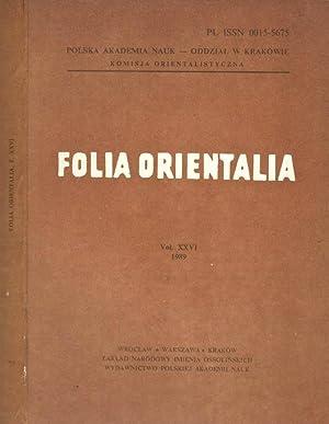 Folia orientalia (vol. XXVI): AA.VV.