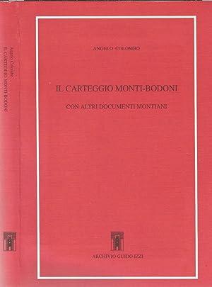 Il carteggio Monti - Bodoni con altri: Angelo Colombo