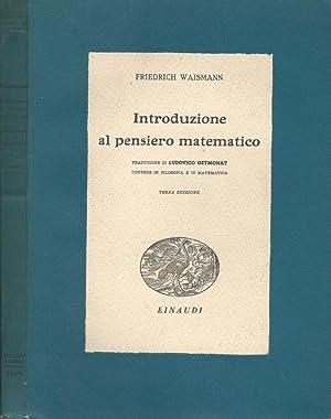 Introduzione al pensiero matematico (vol.III): Friedrich Waismann