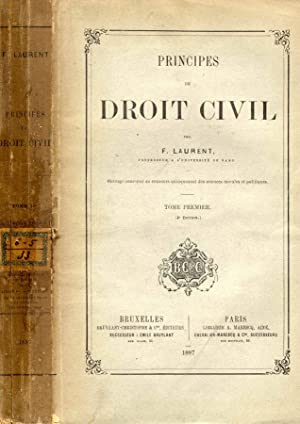 PRINCIPES DE DROIT CIVIL