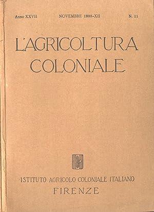 L' agricoltura coloniale - Anno XXVII n.: AA. VV.