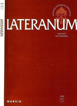 LATERANUM N.III DEL 1999 FACOLTA' DI TEOLOGIA: AAVV