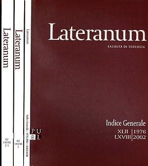 LATERANUM N.I II III DEL 2002 FACOLTA': AAVV