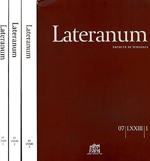 LATERANUM N.I II III DEL 2007 FACOLTA': AAVV