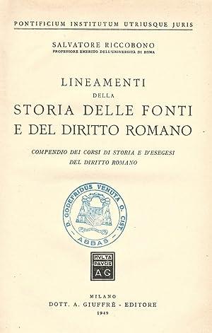 Lineamenti della Storia delle Fonti e del: Salvatore Riccobono