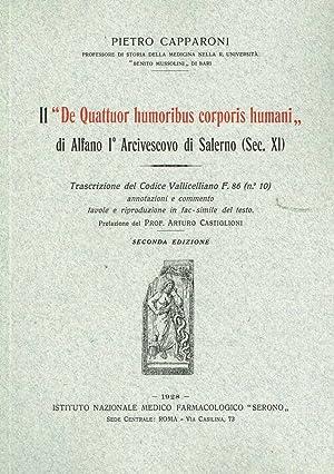 IL DE QUATTUOR HUMORIBUS CORPORIS HUMANI DI: PIETRO CAPPARONI