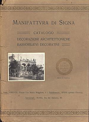 Manifattura di Signa Catalogo, decorazioni architettoniche ...