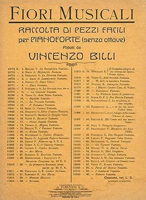 RACCOLTA DI PEZZI FACILI PER PIANOFORTE SENZA: VINCENZO BILLI