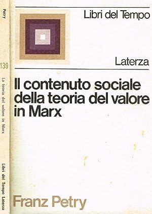 IL CONTENUTO SOCIALE DELLA TEORIA DEL VALORE: FRANZ PETRY