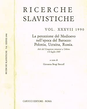 RICERCHE SLAVISTICHE vol. XXXVII LA PERCEZIONE DEL: GIOVANNA BROGI BERCOFF