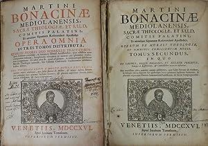 MARTINI BONACINAE MEDIOLANENSIS SACRAE THEOLOGIAE, ET I.U.D.: Martino Bonacina (Martini