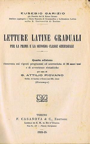 Letture Latine Graduali per la Prima e: Eusebio Garizio