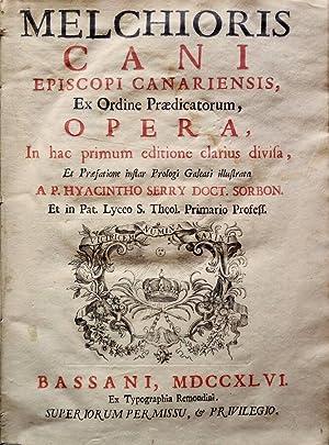 Melchioris Cani Episcopi Canariensis, ex Ordine Praedicatorum,: Melchiorre Cane, vescovo