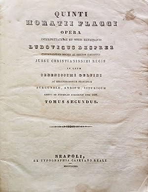 Quinti Horatii Flacci Opera Interpretatione et Notis: Quinto Orazio Flacco,