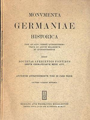 Monumenta Germaniae historica - Vol. III inde: Societas Aperiendis Fontibus